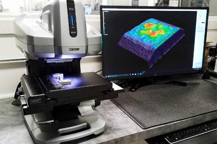 keyance vr machine showing surface topography on screen